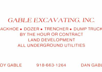 Gables Excavating Utility Contractor Tulsa 018